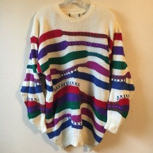 Vintage chunky knit oversized sweater